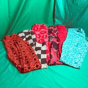 LuLaRoe Pants - LuLaRoe Lot of Holiday Leggings - One Size